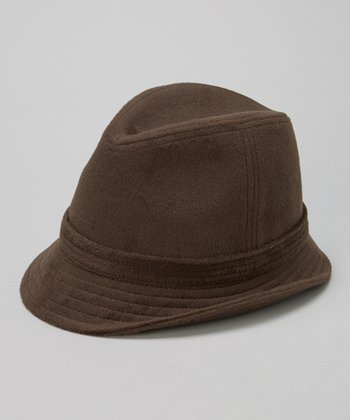Chocolate Velour Cloche