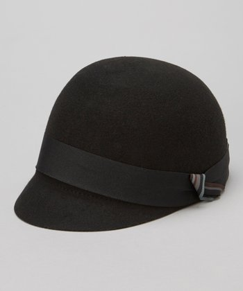 Black Wool Jockey Cap