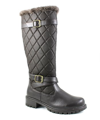 Brown Quilted Blair Boot