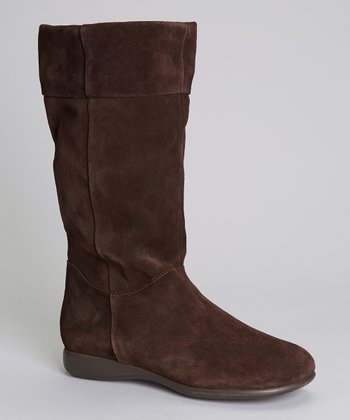 Brown Suede Alexa Boot