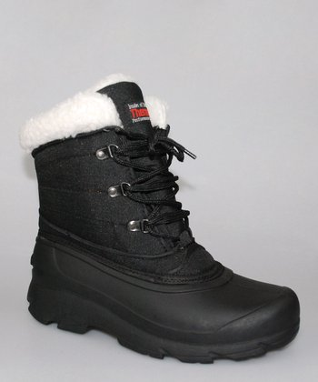 Black & White Ankle Duck Boot - Women