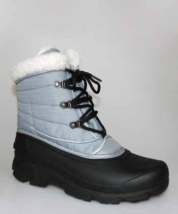 Silver & Black Ankle Duck Boot - Women