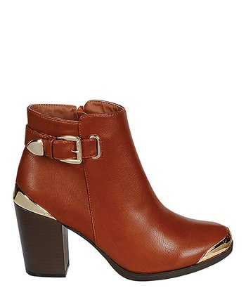 Cognac Apollo Ankle Boot