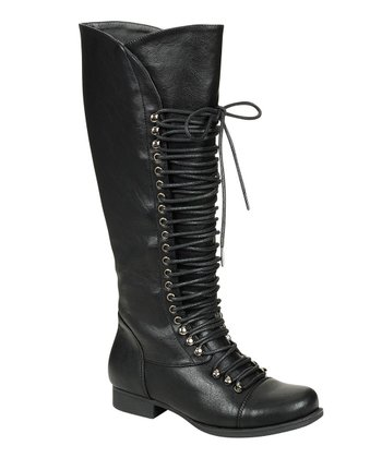 Black High Mae Boot