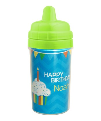 Blue 'Happy Birthday' to You Personalized Sippy Cup