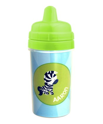 Cute Baby Zebra Personalized Sippy Cup