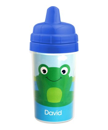 Cute Smiley Frog Personalized Sippy Cup