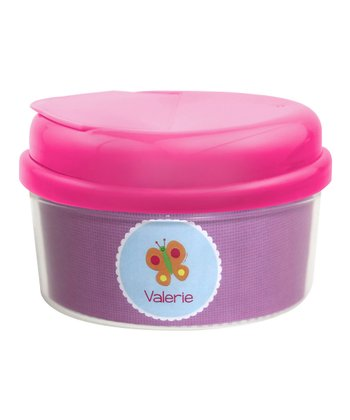 Sweet Butterfly Personalized Snack Container