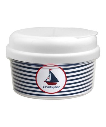 Set Sail Personalized Snack Container