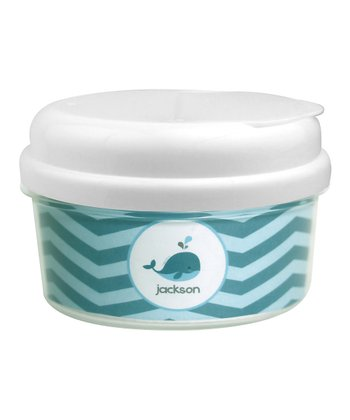 Sweet Little Blue Whale Personalized Snack Container