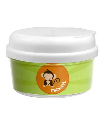 Cute Baby Monkey Personalized Snack Container