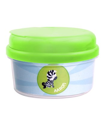 Cute Baby Zebra Personalized Snack Container