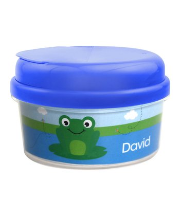 Cute Smiley Frog Personalized Snack Container