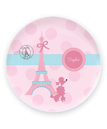 Ohh La La Paris Personalized Plate