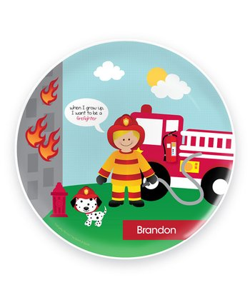 Cool Blonde Firefighter Personalized Plate