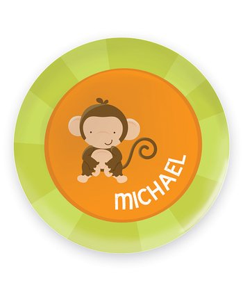 Cute Baby Monkey Personalized Plate