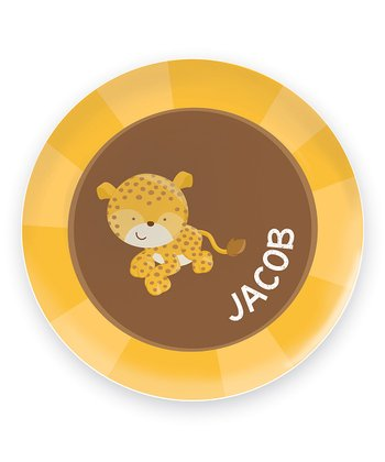 Cute Baby Cheetah Personalized Plate