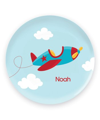 Fly Little Plane Personalized Plate