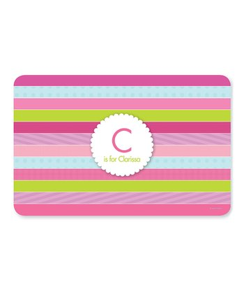 Bold Stripes Initial & Personalized Place Mat