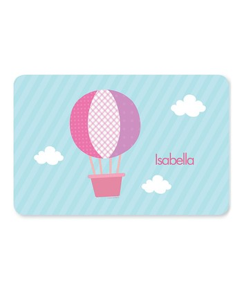 Pink Hot Air Balloon Personalized Place Mat