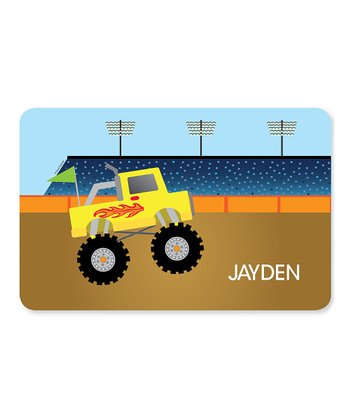 Monster Truck Personalized Place Mat