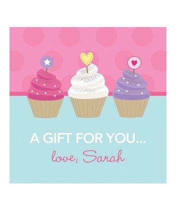Sweet Cupcakes Personalized Gift Tag - Set of 25