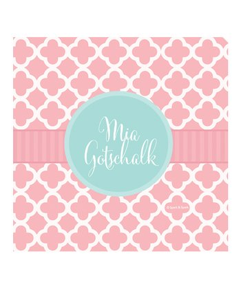 Pretty Pink Quatrefoil Personalized Gift Tag - Set of 25