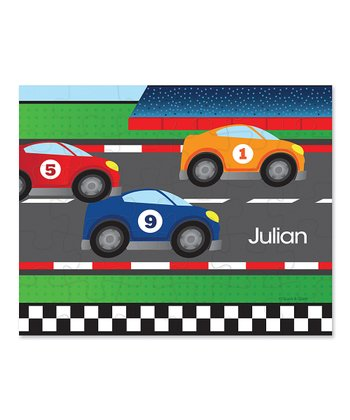 Car Race Personalized Puzzle