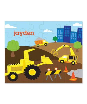 Construction Site Personalized Puzzle