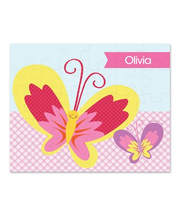 Smiley Butterfly Personalized Puzzle