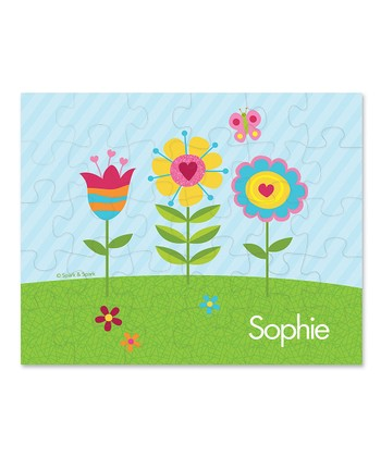 Spring Blooms Personalized Puzzle