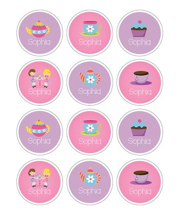 Teatime Personalized Sticker Sheet