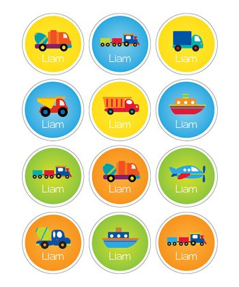 Transportation Waterproof Personalized Sticker Sheet