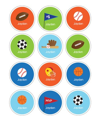 Sports Fan Waterproof Personalized Sticker Sheet