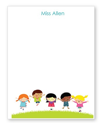 Green Hill Kids Jumping Personalized Notepad