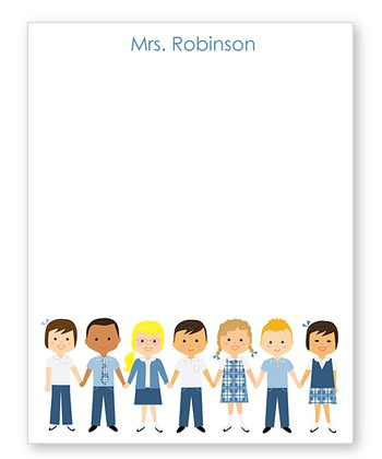 Blue School Uniform Personalized Notepad
