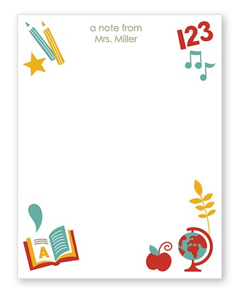 School Days Personalized Notepad