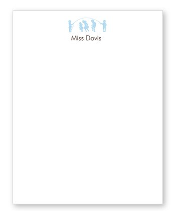 Blue Teacher Personalized Notepad