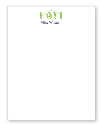 Green Teacher Personalized Notepad