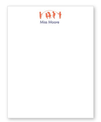 Orange Teacher Personalized Notepad