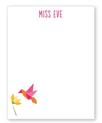 Hummingbird Personalized Notepad