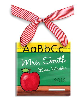 Alphabet Chalkboard Personalized Sign