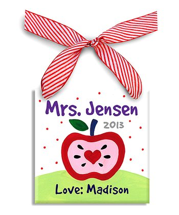Pink Apple Personalized Sign