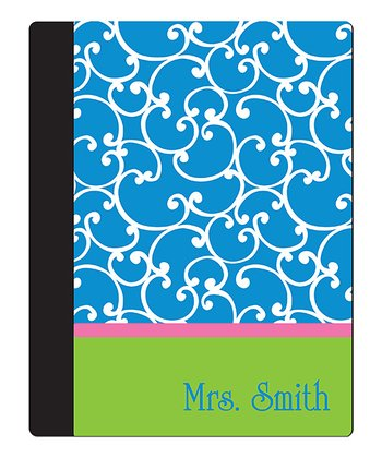 Blue Vine Teacher Personalized Notebook Cover