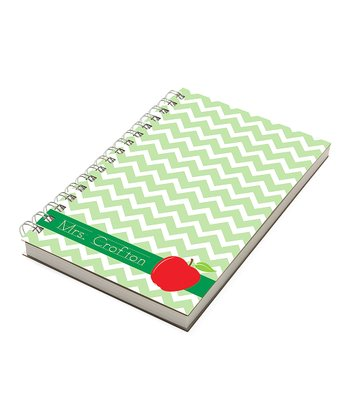 Zigzag Apple Personalized Chunky Notebook