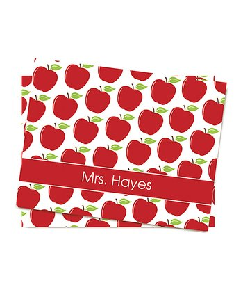 Apples Personalized Folded Note Card Set