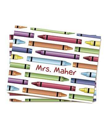 Crayons Personalized Folded Note Card Set