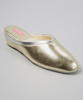 Gold Claire Slipper