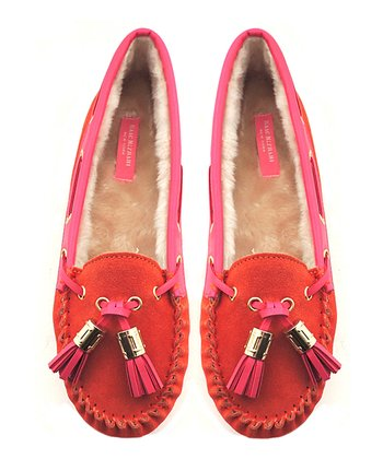 Orange & Pink Liberty Moccasin