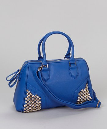 Cobalt Crystal Studded Satchel